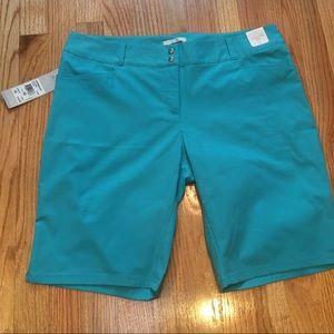 Adidas Ladies Teal Bermuda Shorts